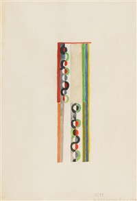 ohne titel (rythme coloré, komposition nr. 11, nr. 11-1937) by robert delaunay