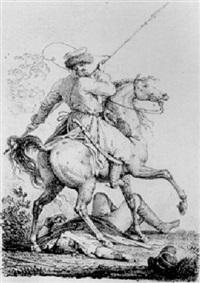 un cosaque by louis françois lejeune