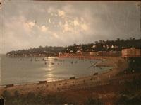 la baie de naples (+ vue de posillippo au nord de naples, lrgr; 2 works) by augusto corelli