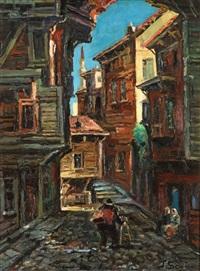 eski istanbul sokağı by ibrahim safi