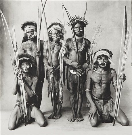 five okapa warriors new guinea by irving penn