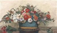 nature morte au bouquet de fleurs by etienne drian