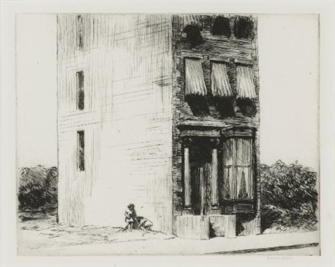 the lonely house by edward hopper