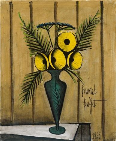 Bouquet de fleurs jaunes by bernard buffet on artnet for Bouquet de fleurs jaunes