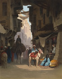 the souk by charles théodore (frère bey) frère