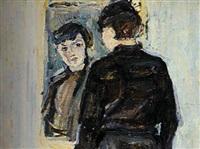 femme devant un miroir by guerta nemenowa