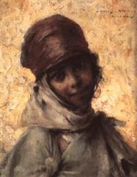 portrait de jeune fille de bou-saâdâ by georges gasté