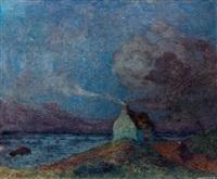 bord de mer, la nuit by ferdinand puigaudeau