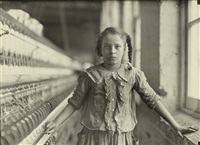 a bright ten-year-old spinner in cotton mill (whitnel, n.c.) by lewis wickes hine