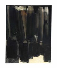 peinture 92 x 73 cm, 9 mars by pierre soulages