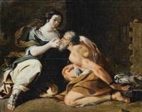 la charité romaine by simon vouet
