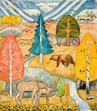 alle skogens dyr by erik theodor werenskiold