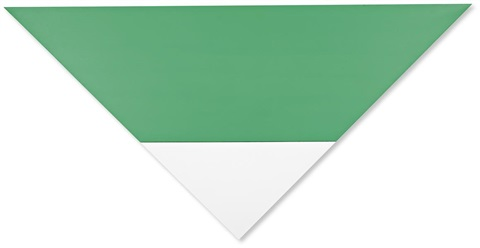 green white 2 joined panels by ellsworth kelly