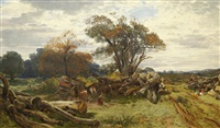 woodcutters, cadzow forest by samuel bough