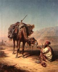 le repas du chamelier by johann hermann kretzschmer