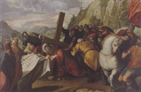 christ on the road to calvary with st. veronica and the sudarium by antonio vassilacchi