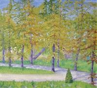 camino entre árboles by agustín ezcurra