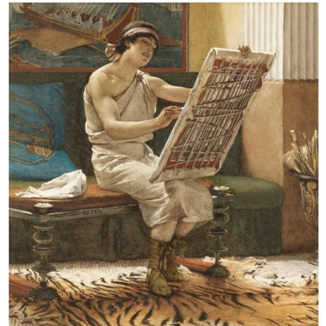 a roman artist, the art of drawing by sir lawrence alma-tadema