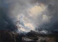 aufziehender schneesturm by josef selleny