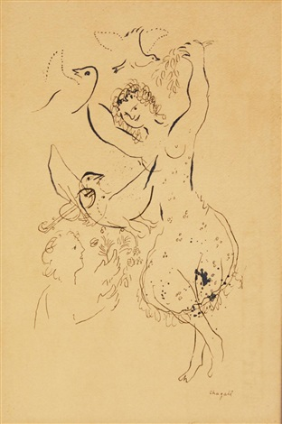 dancer & doves by marc chagall
