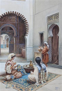 courtyard of a moorish house by vittorio rappini