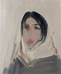 portrait de femme au foulard by fermin aguayo