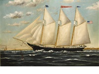 the ship emma heather headed out to sea by william pierce stubbs