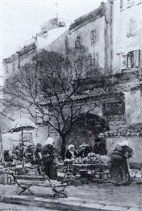 a continental market, antibes by robert weir allen
