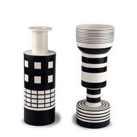 zwei vasen alzata grande und rocchetto by ettore sottsass