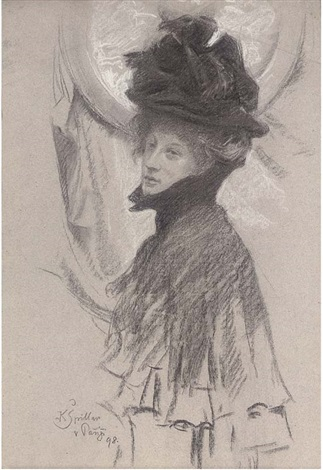 study of a lady in a hat by karel spillar