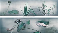 我梦见徽宗时代的池塘秋晚 (i dreamt of a pond in late autumn in hui zong emperor's time in song dynasty) by hong lei