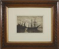 harbor (+ coastal scene, 2 works) by philip little