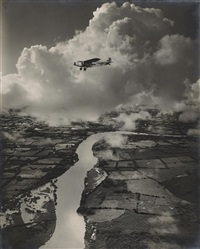 lempa river, honduras. pan american airmal flying across by alfred g. (capt.) buckham