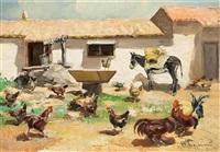 farm scene by vasilis germenis