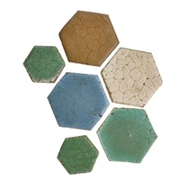 hexagonal tiles in various colors (381 works) by grueby