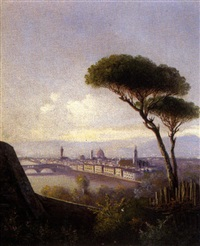 veduta di firenze by guido agostini