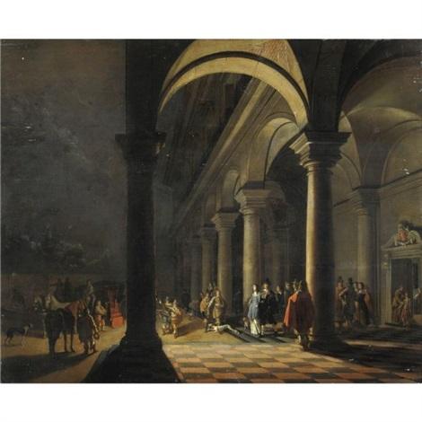 notturno con partenza da palazzo by hendrick van steenwyck the younger