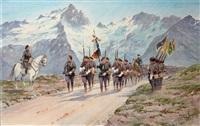 les chasseurs alpins défilant à la meije by bernard rambaud