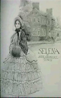 colonial woman in front of house by john wolcott adams