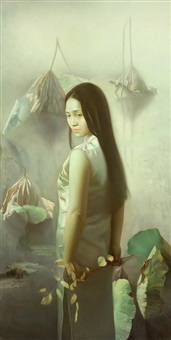 beauty and lotus by jiang zhongli