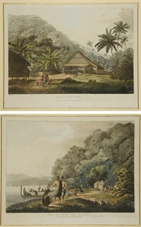 views in the south seas (6 works) by john webber