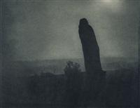 auguste rodin, la silhouette (balzac) by edward steichen