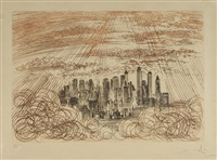 manhattan, from new york city suite by salvador dalí