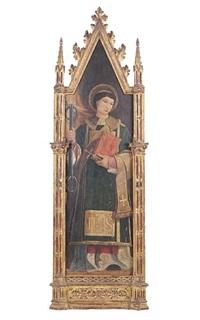 the deacon saint leonard (+ the deacon saint vincent; pair) by italian school-lombardy (15)