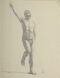 académie d'homme by jacques-louis david