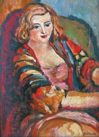 femme dans un fauteuil by nicolas gloutchenko