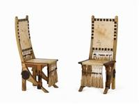 chairs (pair) by carlo bugatti