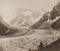 cascade et mer de glace (+ vallée de chamoix; 2 works) by victor muzet