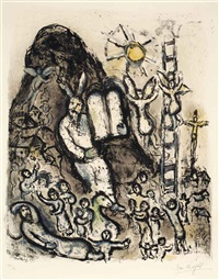 moses' visions by marc chagall