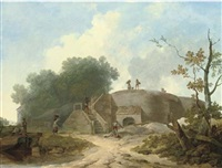 view of a limekiln by h. hulley